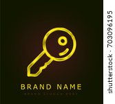 key golden metallic logo