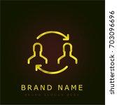 transfer golden metallic logo | Shutterstock .eps vector #703096696