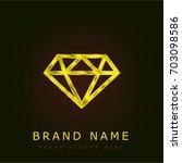 small diamond golden metallic...
