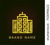apartment golden metallic logo