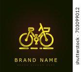 bicycle golden metallic logo
