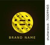 world web golden metallic logo
