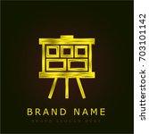 storyboard golden metallic logo
