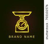 libra golden metallic logo
