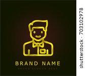 waiter golden metallic logo