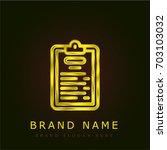 padnote golden metallic logo