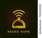 bell golden metallic logo