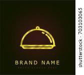 salver golden metallic logo