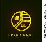 chart golden metallic logo