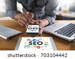 local seo concept business team ... | Shutterstock . vector #703104442