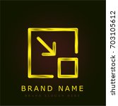 minimize golden metallic logo