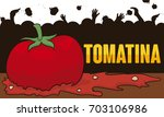 poster with squashed tomato and