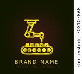 industrial robot golden...