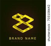 tiles golden metallic logo