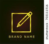 edit golden metallic logo