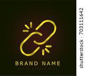 broken link golden metallic logo