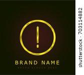 warning golden metallic logo