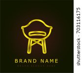 chair golden metallic logo