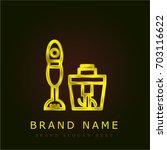 mixer golden metallic logo