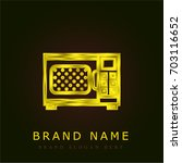 microwave golden metallic logo