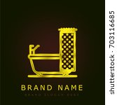 bathtub golden metallic logo
