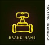 valve golden metallic logo