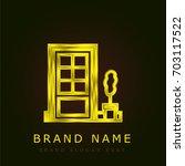 door golden metallic logo