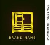 closet golden metallic logo