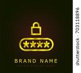 pin code golden metallic logo