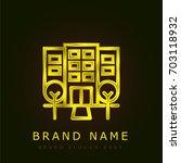hotel golden metallic logo