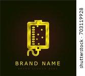 perfusion golden metallic logo