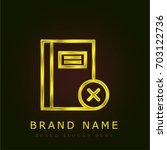 notebook golden metallic logo