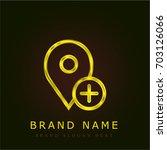 placeholder golden metallic logo