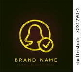 user golden metallic logo | Shutterstock .eps vector #703129072