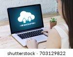 live streaming backup download...   Shutterstock . vector #703129822