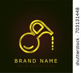 oil golden metallic logo