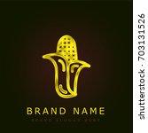 corn golden metallic logo