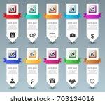 business info graphics design... | Shutterstock .eps vector #703134016