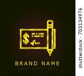 check golden metallic logo