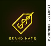 price tag golden metallic logo