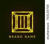 crate golden metallic logo   Shutterstock .eps vector #703135705