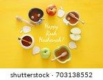 rosh hashanah  jewish new year... | Shutterstock . vector #703138552