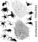 Illustration With Spiders And...