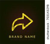 next golden metallic logo