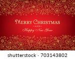 christmas horizontal banner... | Shutterstock .eps vector #703143802