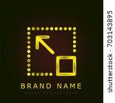 full screen golden metallic logo