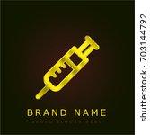 syringe golden metallic logo