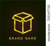 package golden metallic logo