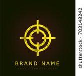 target golden metallic logo