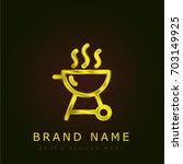 grill golden metallic logo